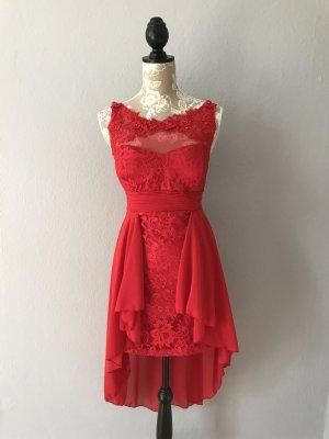 Rotes Vokuhila-Kleid, Gr. 36