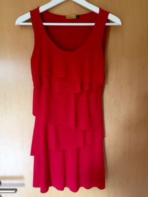 Chilli Flounce Dress red