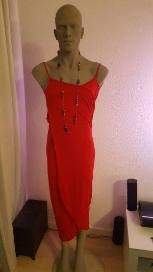 Vestido cruzado rojo