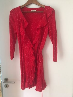 Review Wraparound red viscose