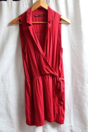 Rotes Wickelkleid von Zara