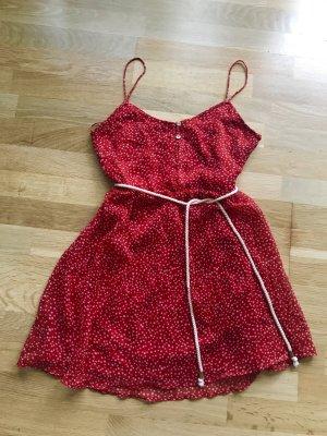 Rotes Zara Kleid inklusive Gürtel - Ungetragen