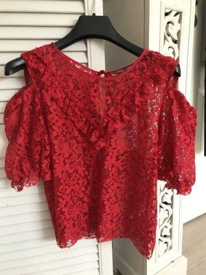 Rotes Zara Oberteil/Bluse große S
