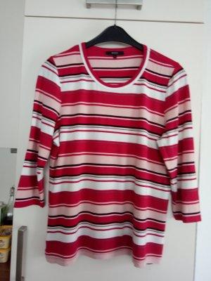 Bonita Oversized shirt wit-rood