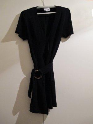 Vestido cruzado negro Viscosa