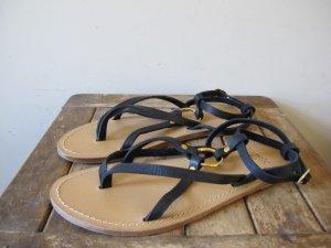 Toe-Post sandals black leather