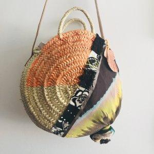 Roundbag Korbtasche Crossbody Ibiza Bohostyle Organic Designer neu