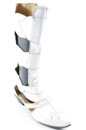 Rovers Stivale a gamba corta bianco-beige stile country