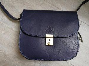 Rowallan Crossbody/ Umhängetasche Leder in dunkelblau