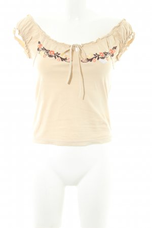 Roxy Basic Top beige florales Muster Casual-Look