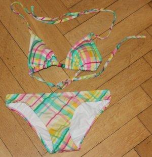 Roxy Bikini Gr. M 34 36 38 pastellfarben gefütterte Cups neu