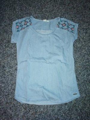 Roxy Short Sleeved Blouse cornflower blue