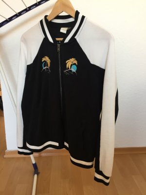 Roxy Chaqueta estilo universitario negro-blanco Algodón