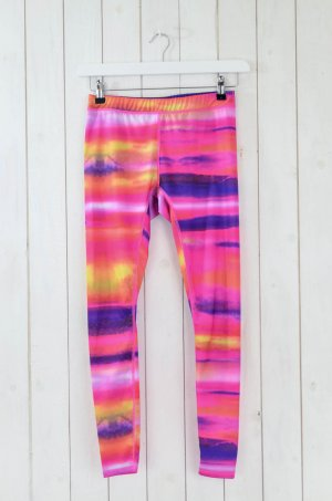 ROXY Damen Leggings Running Yoga Stretch Regenbogen Bunt Polyester Elastan Gr.M