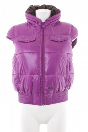 Roxy Donsvest violet-donkerbruin casual uitstraling
