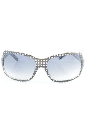 Roxy Occhiale da sole spigoloso nero motivo a quadri stile casual