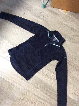 Roxy Fleece Pullover mit Känguru Taschen Gr S blau