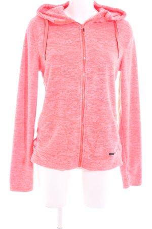Roxy Fleecejacke pink meliert sportlicher Stil