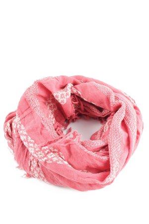 Roxy Fransenschal pink-weiß grafisches Muster Casual-Look