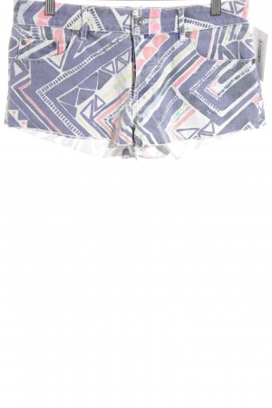 Roxy Hot Pants blue-salmon abstract pattern beach look