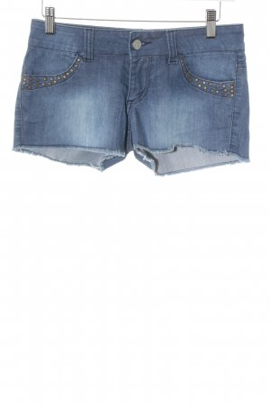 Roxy Hot Pants stahlblau Destroy-Optik