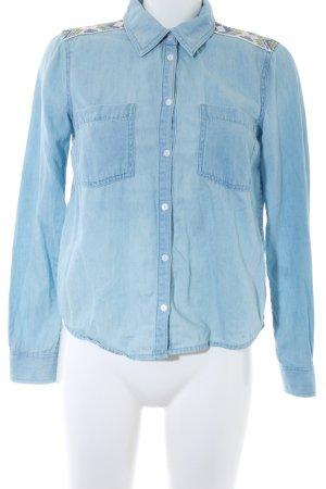 Roxy Camisa vaquera azul celeste look casual