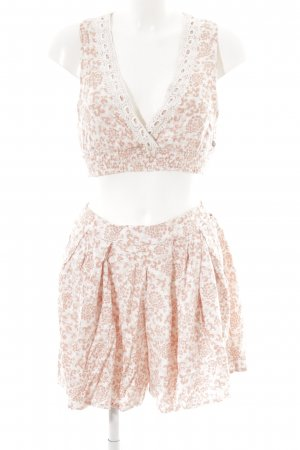 Roxy Twin Set tipo suéter apricot-cream flower pattern casual look