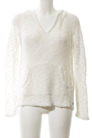 Roxy Pull à capuche blanc cassé style décontracté