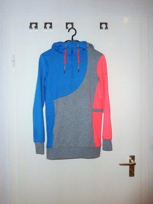 Roxy Kapuzenpullover grau-blau-rosa
