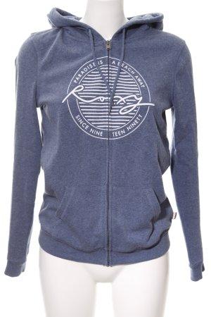 Roxy Capuchon sweater leigrijs prints met een thema simpele stijl