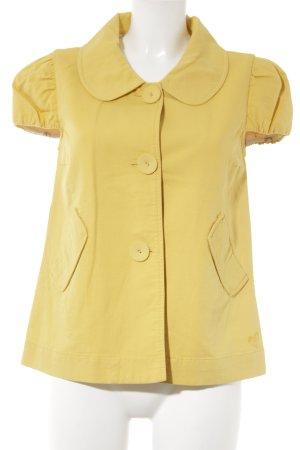 Roxy Kurzarm-Bluse dunkelgelb Casual-Look