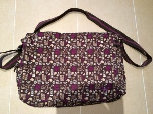 Roxy Borsa pc viola scuro-marrone