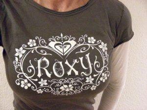 ROXY Longlseeve Gr. S grau mit weiß abgesetzten Ärmeln