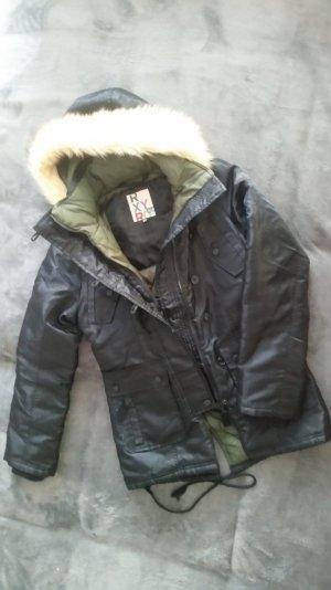 ROXY Mantel Parka Fellkapuze Fake Fur Gesteppt Blogger Gr. Xs S