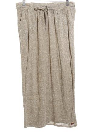 Roxy Falda midi gris verdoso moteado look casual