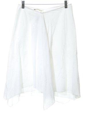 Roxy Falda midi blanco estampado gráfico estilo romántico