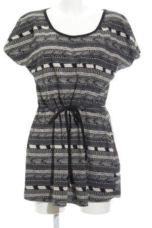 Roxy Minikleid schwarz-hellbraun abstraktes Muster Beach-Look