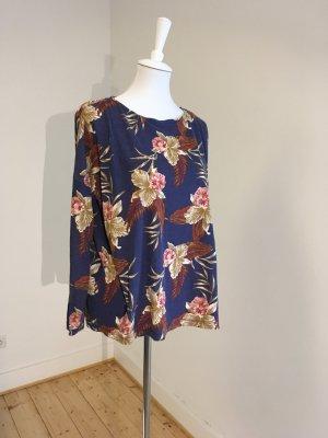 ROXY Oversize-Sweatshirt in Petrol/Floralem Muster