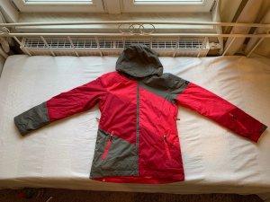 ROXY Pink Grau Color Blocking Skijacke Gr. XL