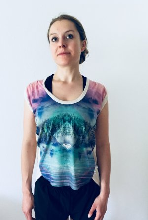 Roxy Print Shirt Gr. M Sommer Berge neuwertig