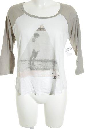 Roxy Print-Shirt weiß platzierter Druck Skater-Look