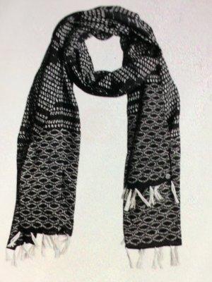 Roxy Sciarpa con frange nero-beige