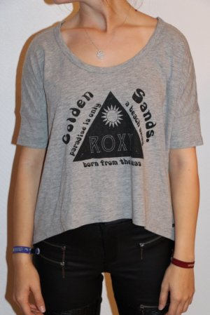 Roxy T-Shirt black-light grey mixture fibre