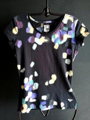 Roxy Shirt mit Tupfern in schwarz/lila/gelb