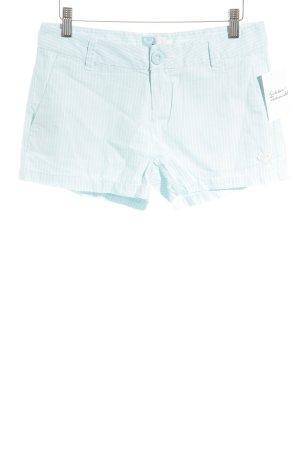 Roxy Shorts weiß-himmelblau Streifenmuster Beach-Look