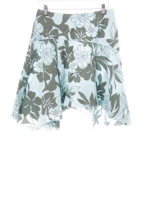 Roxy Skaterrock mint-grüngrau florales Muster Beach-Look