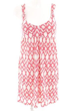 Roxy Strandkleid weiß-magenta abstraktes Muster Beach-Look