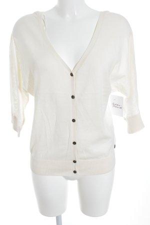 Roxy Cardigan tricotés crème Application de logo