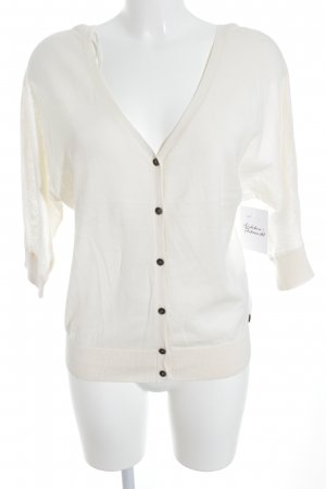 Roxy Strick Cardigan creme Logo-Applikation