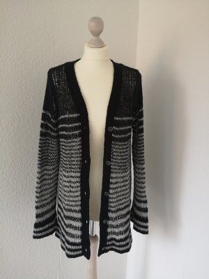 Roxy Coarse Knitted Jacket black-white